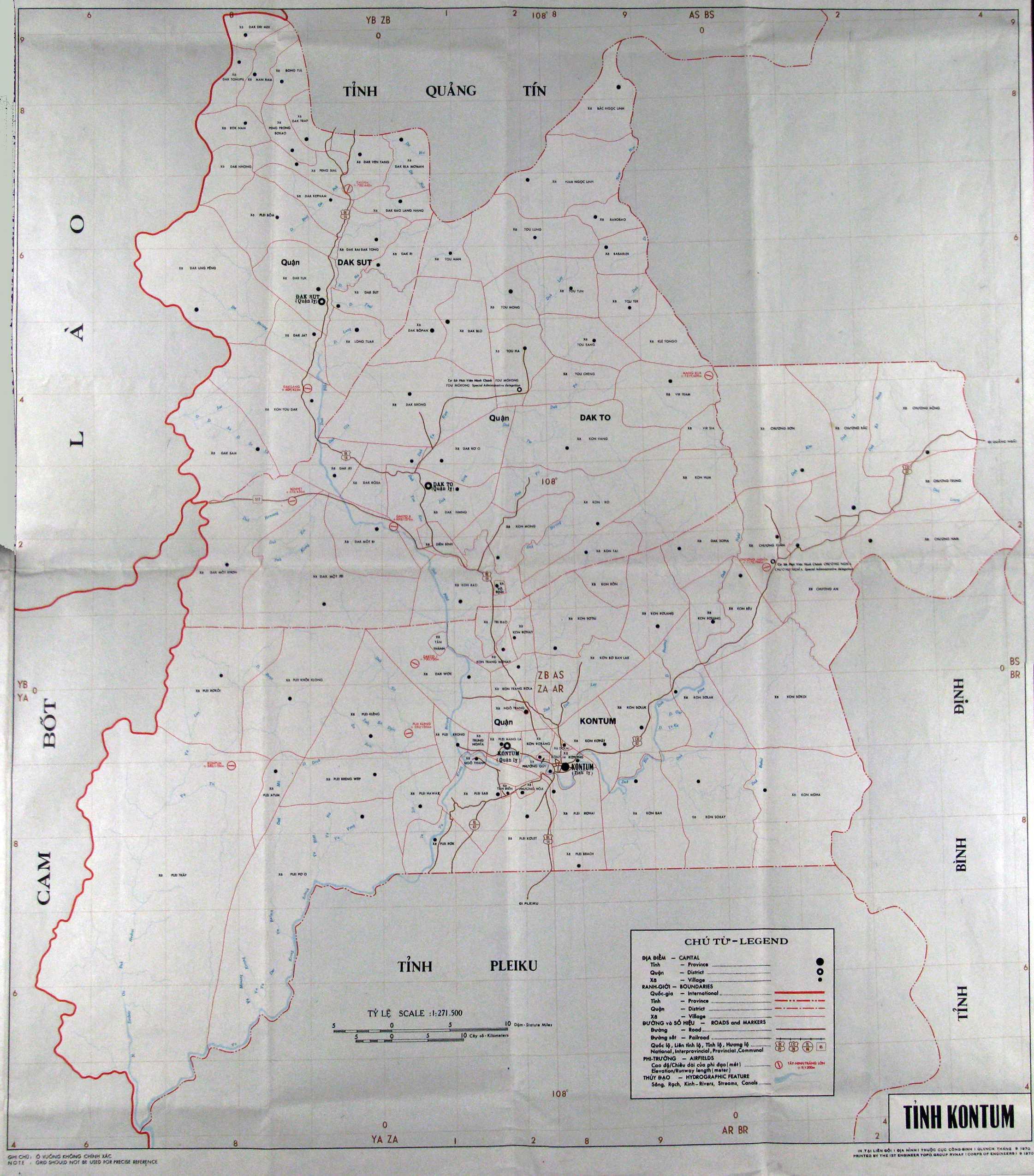 Map of the Plieku Area