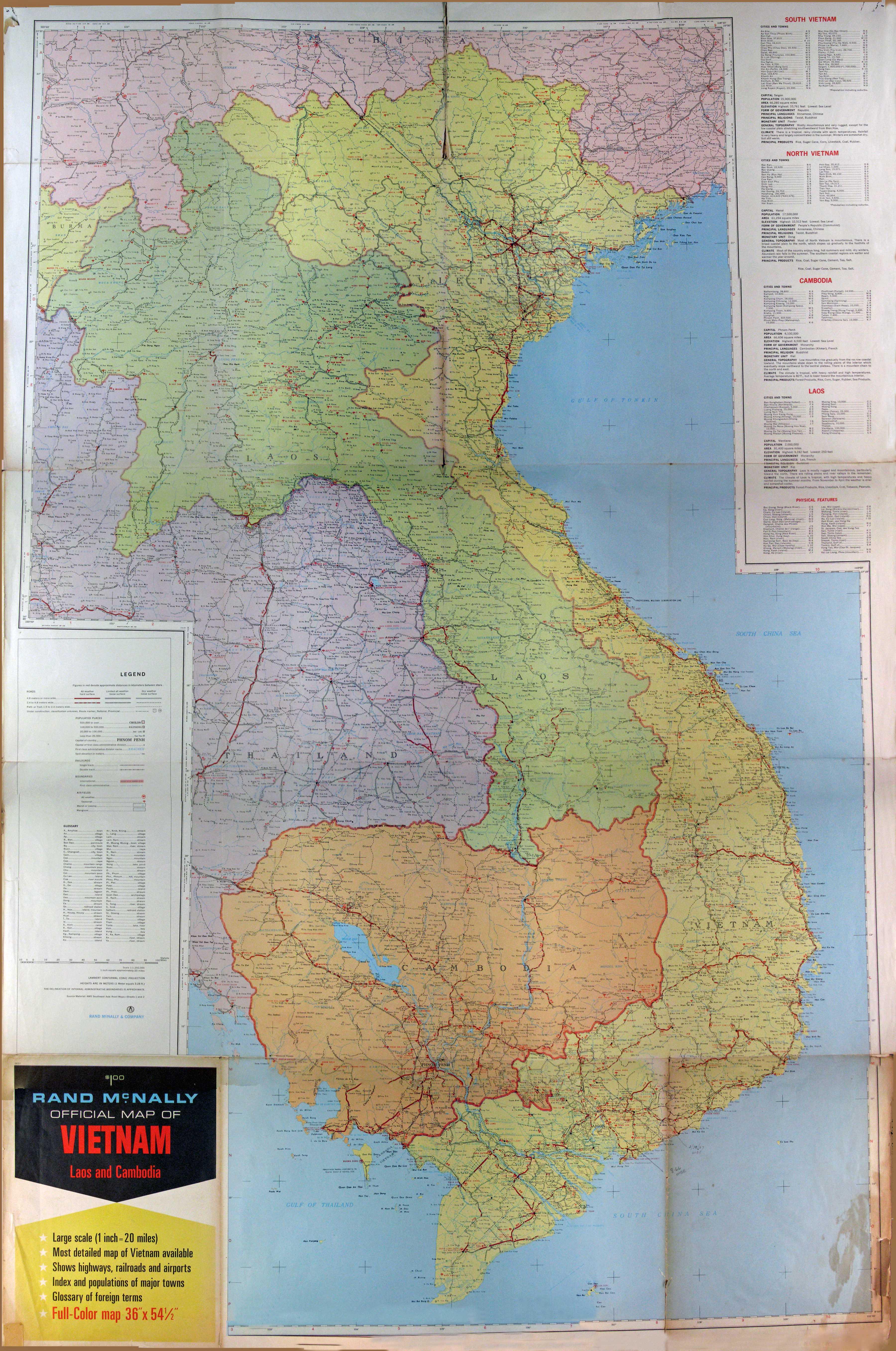 Rand McNally Map of Vietnam