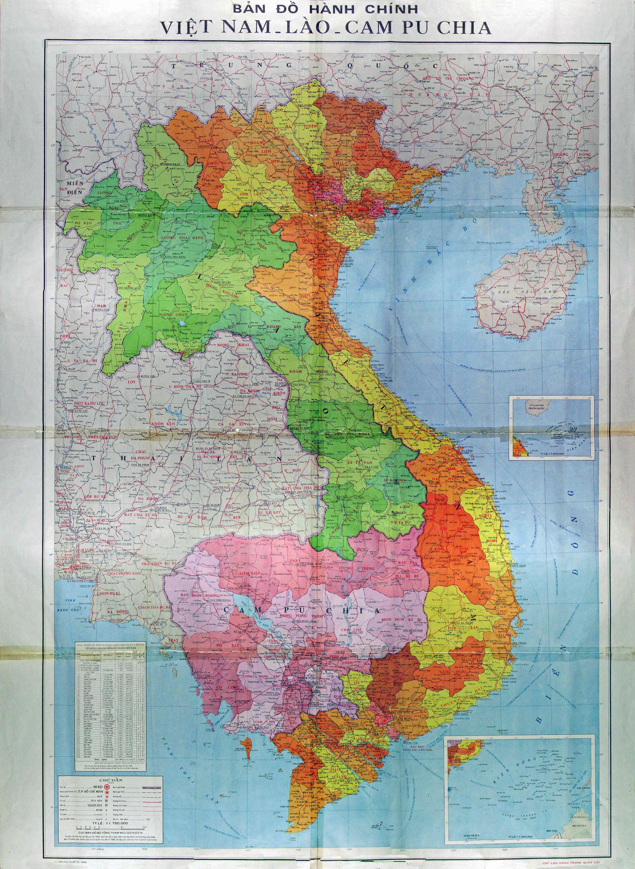 Vietnam Map in Vietnamese